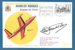 1975 DIABLES ROUGE BELGIAN AIR FORCE FOUGA CM170R MAGISTER AEROBATIC COVER N°6 - Belgium