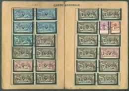 Carte Annuelle Cotisations Assurance Sociale Vieillesse 1932 Avec Timbres Fiscaux Merson - Fiscali