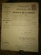 HAUSSMANN  Préfet De La Seine  Sur Bon De Concession PARIS 1887 - Autographes