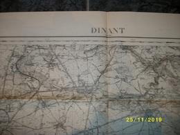 Carte Topographique De Dinant (Gougnies - Mettet - Bioul - Godinne - Crupet - Bouvignes - Flavion - Florennes) - Cartes Topographiques