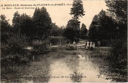 LA BOULAYE - Hameau De FLEURY LA FORET (27) La Mare - Route De Gournay - Dos Vert - TBE - Très Belle Carte - Francia