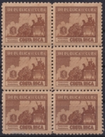 1937-348 CUBA REPUBLICA 1937 Ed.309 3c LM CHILE WRITTER & ARTIST. ESCRITORES Y ARTISTAS BLOCK 6. - Kuba