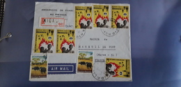 Lettre Recommandée Kigali Rwanda Ambassade De France Air Mail - Rwanda