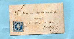 """PARIS,lettre """"L"""" Baton (1502) Sur N) 14 II,avec Voisin,L.S.C. Du 11/10/61. - 1849-1876: Période Classique"""