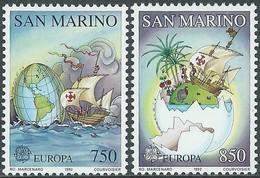 Saint-Marin San Marino  1992  Yvertn° 1301-1302 *** MNH Cote 6,00 Euro CEPT Europa - Europa-CEPT
