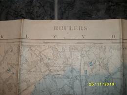 Topografische / Stafkaart Van Roeselare - Roulers (Hooglede - Beveren - Rumbeke) - Cartes Topographiques