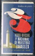 Viñeta, ZARAGOZA  1965. Feria De Muestras 25 Aniversario. Bodas De Plata, Label, Cinderella ** - Variedades & Curiosidades