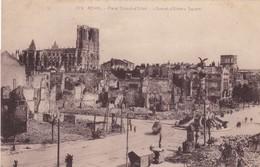 51  REIMS. GUERRE 14-18 .CPA. PLACE DROUET D'ERLON APRES BOMBARDEMENT - War 1914-18