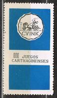 Viñeta CARTAGENA (Murcia). III Juegos Cathaginenses 1970 , Label, Cinderella ** - Variedades & Curiosidades
