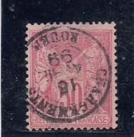 France - Sage, Type II - N°YT 98 - 50c Rose - Oblit CàD - 1876-1898 Sage (Tipo II)