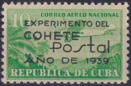 1939-210 CUBA REPUBLICA 1939 Ed.333 10c MNH-LM COHETE POSTAL ROCKET - Kuba