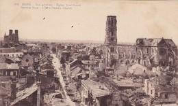 51  REIMS. GUERRE 14-18 .CPA. EGLISE SAINT ANDRE. APRES BOMBARDEMENT - War 1914-18