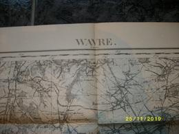 Carte Topographique De Waver - Wavre (Bierges - Bonlez - Dongelberg - Longchamps - Liernu - Chastre) - Cartes Topographiques