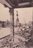 51  REIMS. GUERRE 14-18 .CPA. PLACE D'ERLON ET FONTAINE. SUBE APRES BOMBARDEMENT - War 1914-18
