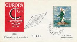 DC-2027 FDC EUROPA CEPT 1966 - SAN MARINO - 1966