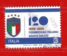 Italia °- 2018 - FEDERAZIONE Italiana GIUOCO CALCIO,  Usato- Viaggiato. - 6. 1946-.. República
