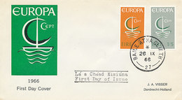 DC-2034 FDC EUROPA CEPT 1966 - IRELAND - 1966