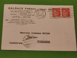 Carte Postale, Dalsace Frères, Paris Envoyé à Ettelbruck 1940 - Abarten & Kuriositäten