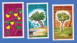 AFARS ET ISSAS 390 + 391 + 392 NEUFS ** FORET PRIMAIRE DU DAY - Unused Stamps