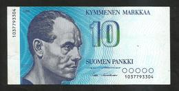 FINLANDIA - SUOMEN PANKKI - 10 MARKAA (1986) - Finlandia