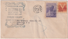 1944-FDC-50 CUBA REPUBLICA 1944 FDC CARLOS ROLOFF POLAND GENERAL POLONIA - Kuba
