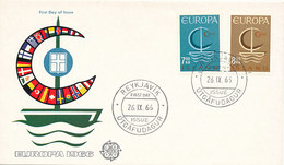 DC-2057 FDC EUROPA CEPT 1966 - ICELAND - 1966