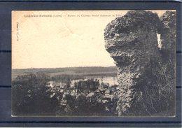 """45. Chateau Renard. Ruines Du Château Féodal Dominant La Ville. Cachet """"GVC"""" - France"""