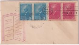 1949-FDC-151 CUBA REPUBLICA 1949 FDC MANUEL SANGUILY GARRITE RED CANCEL PAIR INDEPENDENCE WAR. - Kuba