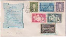1951-FDC-170 CUBA REPUBLICA 1951 FDC ANTONIO GUITERAS GALIAS COVER CACHET, RARE. - Kuba