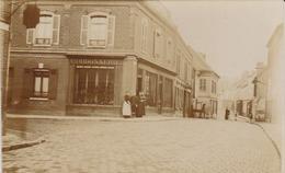 Granville 50  Carte Photo Boutique Cordonnerie A Identifier   Rue Etoupefour 1910  Maisons Detruites Depuis Rue Modifiée - Granville