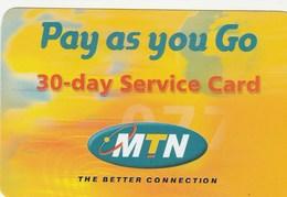 Uganda - MTN - Pay As You Go 30-day - Uganda