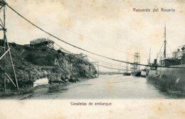 Argentina -  Recuerdo Del Rosario - Canaletas De Embarque - Superb Shipping Etc - Argentina