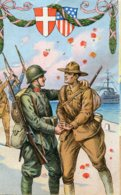 ITALY - Untitled American And Italian Soldiers - Ships Etc World War One Allies - Patriotic
