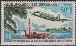 NOUVELLE-CALEDONIE Poste Aérienne 109 ** MNH 1949 Ouverture Ligne Nouméa-Paris [GR] - Poste Aérienne