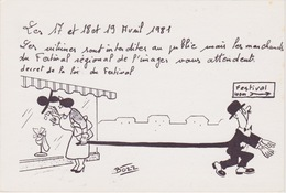 ALBI - 1er Festival Régional De L'Image (17, 18 Et 19 Avril 1981) - Dessin De BOZZ - Beursen Voor Verzamellars