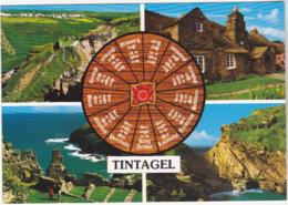 Postcard - Tintagel, Cornwall - 4 Views - Card No. 2DC 992 - VG - Cartoline