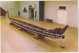 Postcard - Maori War Canoe, Wairarapa, New Zealand - VG - Postcards