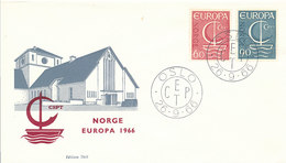 DC-2068 FDC EUROPA CEPT 1966 - NORWAY - Europa-CEPT