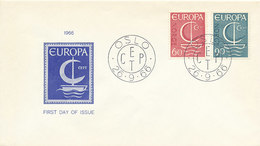 DC-2069 FDC EUROPA CEPT 1966 - NORWAY - Europa-CEPT