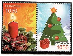 Belarus 2007 . Christmas I.  2v: 1050, 1050.    Michel # 688-89 - Bielorussia