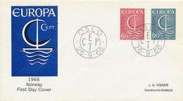 DC-2070 FDC EUROPA CEPT 1966 - NORWAY - Europa-CEPT