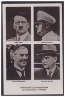 Dt.- Reich (005098) Propagandakarte Welthistorische Zusammenkunft Der Vier Staatsmänner In München, Blanco Gest Gautag - Deutschland