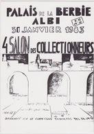 ALBI - 4ème Salon Des Collectionneurs 31 Janvier 1983 - Dessin De J. Pomiès Et D. Miau - Beursen Voor Verzamellars