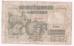 Belgique. 50 Francs - 10 Belgas 02 05 1935 - [ 2] 1831-... : Reino De Bélgica