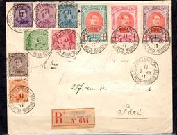 Belgique/Gouvernement En Exil Belle Lettre Recommandée Entière De 1917. Superbe Affranchissement. A Saisir! - WW I
