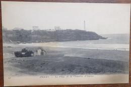 C. P. A. : 64 ANGLET : La Plage De La Chambre D'Amour,  Phare De Biarritz Et 2 Villas, Tout Début XXe - Anglet