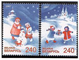 Belarus 2007 . Christmas II. 2v: 240, 240.    Michel # 686-87 - Bielorussia