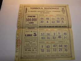 ROMA   -- TOMBOLA  NAZIONALE --   A BENEFICIO   GRANDE OSPEDALE CIVICO PIEMONTE DI MESSINA - Biglietti Della Lotteria
