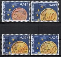 LUXEMBURG - 2001 - MiNr. 1544-1547 - Gestempelt - Used Stamps