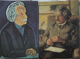Albert Einstein. 2 Cartes, Berlin Museum. - Nobelprijs
